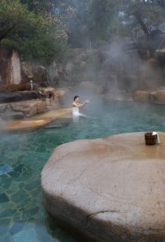 Bugok Hot Springs, located at the foot of Deokamsan Mountain