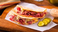 Everything tastes great in a quesadilla! Try this recipe for a different twist on the classic corned beef sandwich. http://www.vvsupremo.com/recipe/reuben-quesadillas Click to see dressing recipe http://www.vvsupremo.com/recipe/russian-dressing