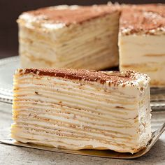 This mille-crepe tiramisu birthday cake recipe inspired by Francisco Migoya gives an illusion of complexity with its many layers. Get the recipe at Tasting Table.