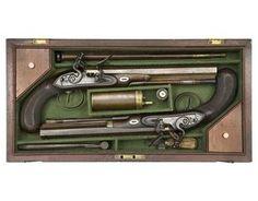22-Bore Flintlock Duelling Pistols