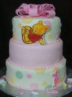 Superior Winnie The Pooh Baby Shower Decorations For A Cake