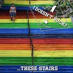 Rainbow Stairs, Beyoglu, Istanbul, Turkey