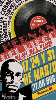 Hoy estamos de cabaret, te invitamos a ver un show único, Hernán del Riego el El hijo del vinyl, entra aquí.