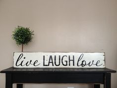 Lovely Handmade live laugh love pallet sign by Cynthiaswoodensigns