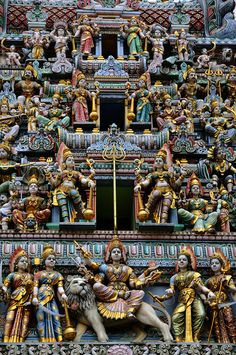detail, sri mariamman temple, singapore #hindu