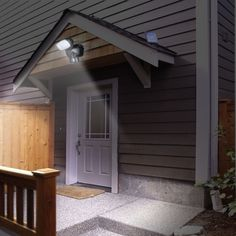 Solar Security lights will keep your home safe and secure at more than half of the cost of conventional security lights! Would they last allnight? Home Security Tips, Wireless Home Security Systems, Security Cameras For Home, House Security, Security Products, Security Alarm, Solar Spot Lights Outdoor, Solar Lights, Outdoor Lighting