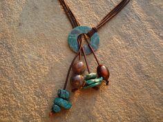 Hardware Jewelry Oxidized Washer Necklace by simplepleasurestx