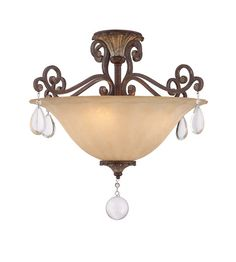 Savoy House 6-3012-4-8 St. Laurence 4 Light 24 inch New Tortoise Shell with Silver Semi-Flush Mount Ceiling Light photo