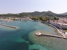 Aero photo- Old Harbour, Thassos Town