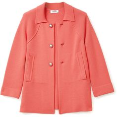 Sonia by Sonia Rykiel Milano Wool 3 Button Coat ($627) ❤ liked on Polyvore featuring outerwear, coats, jackets, tops, women, sonia by sonia rykiel coat, red coat and sonia by sonia rykiel