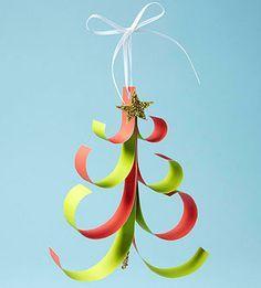 Paper Ornament Crafts: Paper Tree Ornament (via Parents.com)