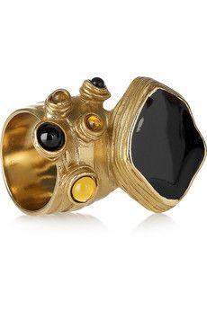Yves Saint Laurent  Arty enamel gold-plated ring