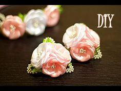 Цветы из Лент на резинках | Канзаши Мастер- Класс | KANZASHI - YouTube