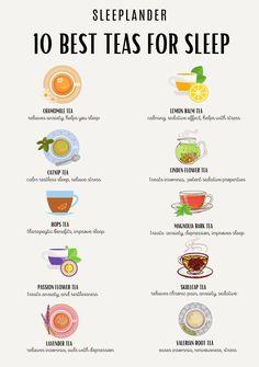 Best Tea For Sleep, Sleep Tea, Herbal Tea Benefits, Herbal Teas, Green Tea Benefits, Lemon Balm Tea, Herbal Magic, Tea Blends, Healing Herbs