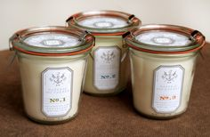J Natural Soy Candle, Graphic-ExchanGE - a selection of graphic projects