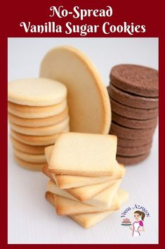Vanilla Sugar Cookies are a favorite anytime treat weather you choose to decorate them or eat them just as is with a cup of tea. Vanilla Cookie Recipe, Best Sugar Cookie Recipe, Butter Cookies Recipe, Best Sugar Cookies, Vanilla Cookies, Best Cookie Recipes, Vanilla Sugar, Sugar Cookies To Decorate, Fondant Cookies