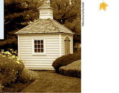 Love little garden sheds!