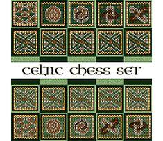 Celtic Chess Set by Cari Buziak Peyote Beading Patterns, Bead Patterns, Celtic Knot, Bead Weaving, Seed Beads, Chess Sets, Beadwork, Diy, Necklaces