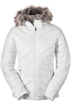 EDDIE BAUER WOMEN'S SLATE MOUNTAIN DOWN JACKET COAT WHITE SIZE XL 16-18  NWT #EddieBauer #Puffer #white #winter #skiing #vacation #pretty #mountain #down #coats #jacket #sexy #resort #nice #ebay #forsale