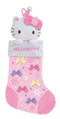 Hello Kitty Pink Musical Christmas Stocking - 2013 and like OMG! get some yourself some pawtastic adorable cat apparel! Hello Kitty Christmas, Pink Christmas, Christmas Home, Xmas, Hello Kitty Crafts, Hello Kitty Rooms, Hello Kitty Collection, Kid Character, Sanrio Hello Kitty