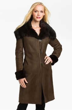 266918a9f Blue Duck Genuine Spanish Merino Shearling Coat available at #Nordstrom Shearling  Coat, Spanish,