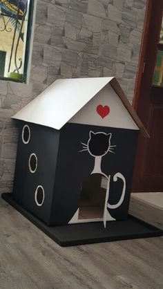 31 Ideas Cats Toys Cardboard For 2019 Cardboard Cat House, Cat Castle, Cat House Diy, Diy Cat Toys, Cat Hacks, Cat Playground, Cat Room, Pet Furniture, Cat Crafts