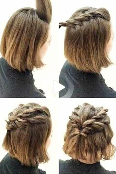 Hair Inspo For Simple Everyday Hairstyles – Lazy Hairstyles! Let's look at some easy everyday hairstyles for long hair, medium length hair, and short hair too. These quick and easy … #easyhairstyles Lazy Girl Hairstyles, Easy Everyday Hairstyles, Prom Hairstyles For Short Hair, Step By Step Hairstyles, Elegant Hairstyles, Quick Hairstyles, Asymmetrical Hairstyles, Wedding Hairstyles, Braid Hairstyles