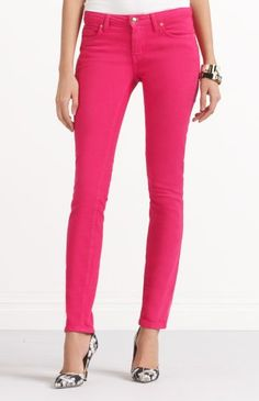Coloured Pants with Zebra Pumps