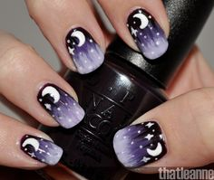 How to do a spooky starry manicure! #Manicure #ManiMonday