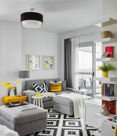 Un piso decorado con productos de Ikea ¿Quién no tiene en su casa algo de la firma Ikea? Digo algo por poner un ejemplo, los hay que sencillamente lo tienen todo y de muestra un botón porqué el piso