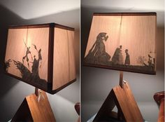DIY Harry Potter Deathly Hallows Silhouette Lamp