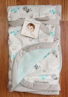 68d34e9325b5 Blankets   Beyond Super Soft Plush Baby Blanket ~ Birds ~ Baby Girl ~  Turquoise~