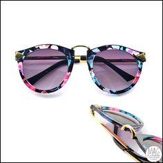 Óculos de sol trabalhado na vida em cores (:  Incomum, lindão!  Produto novo!