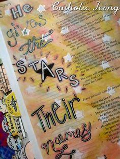 bible journaling- he gives the stars their names