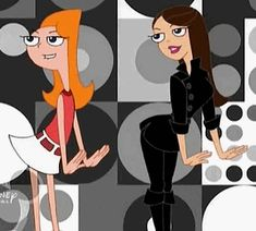 "Candace Flynn and Vanessa Doofenshmirtz, singing ""Busted"" (from the episode ""I Scream, You Scream""). Candace keeps trying to bust her brothers, and keep. Candace and Vanessa, Busting (animated) Arte Disney, Disney Fan Art, Disney Love, Disney Magic, Phineas And Ferb Costume, Phineas Et Ferb, Cartoon Icons, Cartoon Drawings, Disney And Dreamworks"