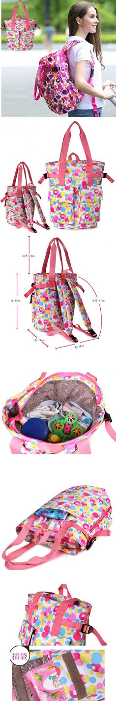 Two-way Used Mummy Diaper Bag For Mother Fashion Backpack/Tote Baby Care Women Maternity Nappy Organizer Stroller Bag 89