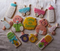 Baby+Shower/Welcome+Baby+cookies+by+CrowsCustomCookies+on+Etsy,+$36.00