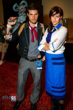 Booker  Elizabeth Bioshock Infinite cosplay  via Pledging Geek | First 40 Cosplays DragonCon 2013