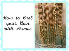 If you want beautiful curly hair but don't want to damage your hair, try out this awesome method using STRAWS. It sounds crazy but it really does work. Heatless Hairstyles, Heatless Curls, Curled Hairstyles, Girl Hairstyles, Make Hair Curly, How To Curl Your Hair, Straw Curls, Toga Party, Flexi Rods