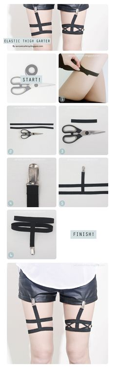 [D.I.Y] Elastic Thigh Garter, will definitely come in handy for my daughters…