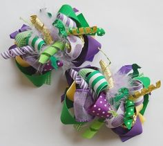 Make Your Own Hair Bows | boutique CREATE YOUR OWN set of 2 FUNKY FUN hair bow by andjane