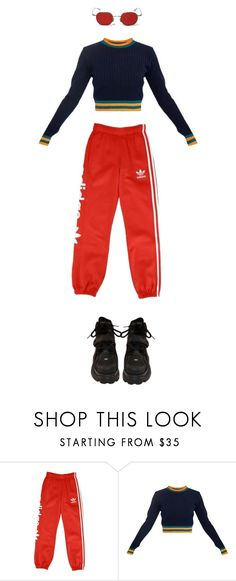"""""""Icon"""" by cheeto-moth ❤ liked on Polyvore featuring adidas Originals"""