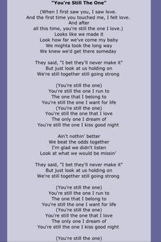 FROM THIS MOMENT ON. Lyrics. Shania Twain. | Tinkerbell ...