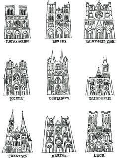 Cathedrals in France by Maral Sassouni