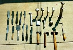 home made tools | Homemade sheetmetal tools, including slappers, dollies, and hammers in ...