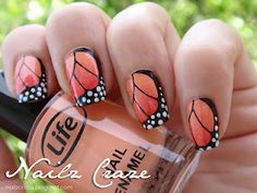 monarch butterfly wings stamping plate - nailz craze  #nails #butterfly #beauty