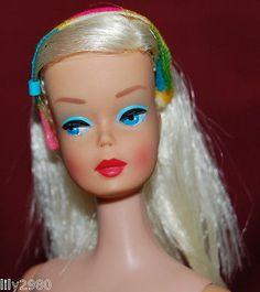Vintage Mod Platinum Blonde Color Magic Barbie Prototype Rare Malibu Legs Doll