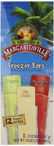 Margaritaville Freezer Bars 12 Count Pack of 8 ** Continue to the product at the image link. (This is an affiliate link and I receive a commission for the sales) Gourmet Recipes, Snack Recipes, Cereal Bars, Daiquiri, Pop Tarts, Freezer, Paradise, Alcohol, Food