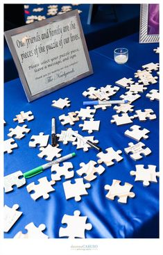 Puzzle Piece Guest Book. Blackstone Hotel Wedding. Deonna Caruso Photography. Sweetchic Events.