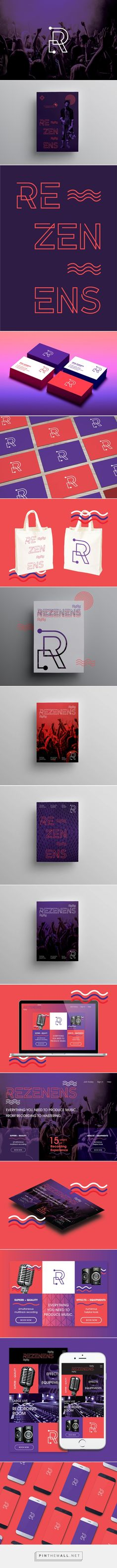 » REZENENS — Branding | Art Direction | Web Design on Behance... - a grouped images picture - Pin Them All